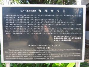 武蔵野八幡宮内の説明書