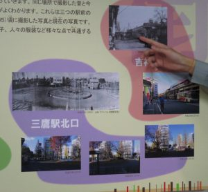 吉祥寺のバスターミナルの移り変わり。現在は柳沢行のバス停ですが、昭和40年(1965)の写真では東伏見行。