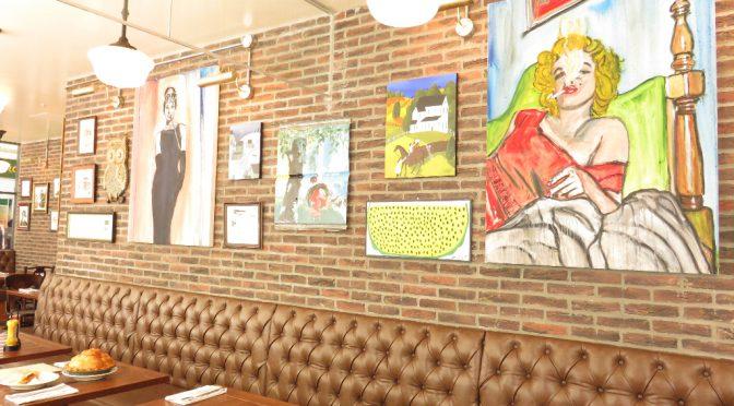 吉祥寺店のためにNYの社長が自ら描いた、オードリー・ヘプバーンとマリリンモンロー。