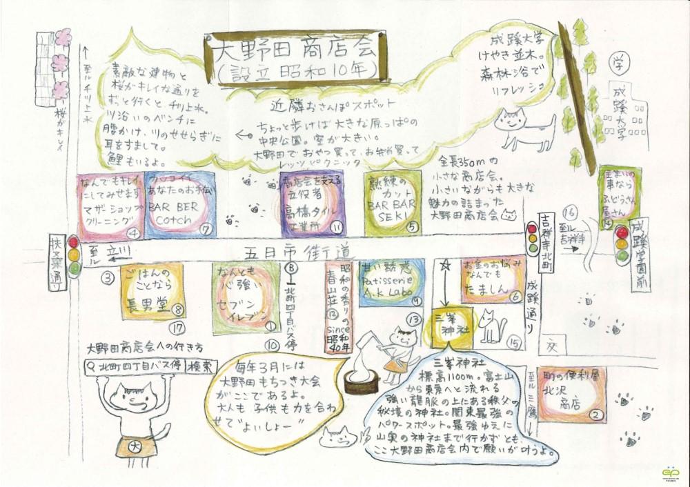 大野田商店会案内地図