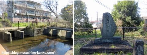玉川上水散策(玉川上水の碑、境水衛所跡)